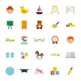Icons set kinder garten Royalty Free Stock Photos