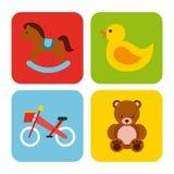 Icons set kinder garten Stock Photos
