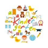 Icons set kinder garten Royalty Free Stock Image