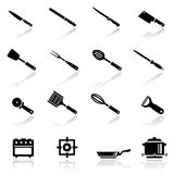 Icons set kitchen utensil Stock Photo