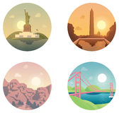 Icons set  landmarks and cultures Stock Photo