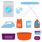 Icons set laundry Stock Photography