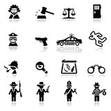 Icons set law and justice. Simplified Computer generated icons set Royalty Free Stock Images