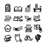 Icons set library. Authors illustration in Royalty Free Stock Photo