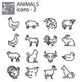 Icons set - Livestock, Farm animals vector illustration