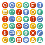 Icons set with long shadow. Trendy Vector Icons With Long Shadow Set 4 Stock Photography