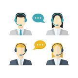 Icons  set Male and female  call center avatars in Stock Photo