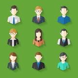 Icons Set of Male and Female Faces in business theme, Vector illustration Stock Images