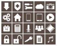 Icons set for mobile apps Royalty Free Stock Photos
