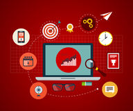 Icons set of modern business working elements Stock Images