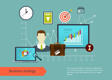 Icons set of modern business working elements Stock Photos