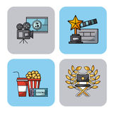 Icons set movies Royalty Free Stock Photography