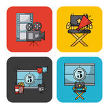 Icons set movies Royalty Free Stock Photo