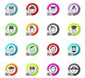 Icons set occupation Stock Photography