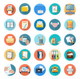 Icons Set of Office Tools Stock Image