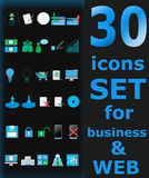 30 icons set!. 30 icons pack for business and web design Royalty Free Stock Photos