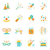 Icons Set : Party Objects Stock Image