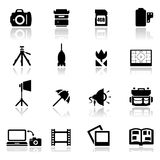 Icons set photography Stock Images