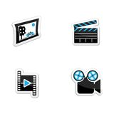 Icons set photos, videos and movie themes Stock Photos