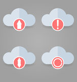 Icons set. 4 pieces. Can be used in WEB interfaces. Royalty Free Stock Images