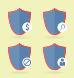 Icons set. 4 pieces. Can be used in WEB interfaces. Royalty Free Stock Photo
