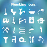 Icons set Plumbing Stock Images