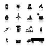 Icons set power and energy Stock Image
