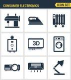 Icons set premium quality of home appliances Stock Photo