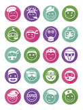Icons set profession smilies differents colors Stock Photo