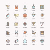 The icons set for the quest room. Royalty Free Stock Image