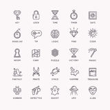 The icons set for the quest room. Stock Photography