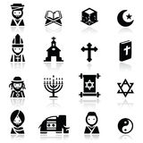 Icons set Religions stock photography