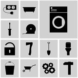 Icons set repeir/ Vector icons repeir/ Flat icons repeir/ Icon washing, machine, Royalty Free Stock Image