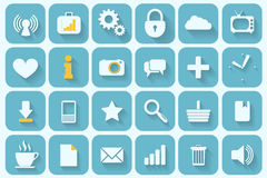 Icons set retro. Set of 24 retro icons for your design Royalty Free Stock Photos