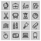 Icons set school Royalty Free Stock Photos