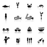 Icons set sea food Royalty Free Stock Photo
