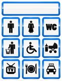 Icons set of service signs vector illustration