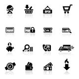 Icons set Shopping. Simplified but well drawn Icons, smooth corners no hard edges unless it's required Royalty Free Stock Image