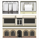 Icons set of showcases stores. Royalty Free Stock Image