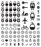Icons set. Set of simple vector web icons for mobile and web Stock Image