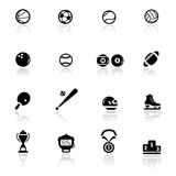 Icons set sports and games Royalty Free Stock Photography