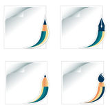 Icons set of stationery Royalty Free Stock Images