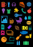 Icons 3. Set of icons in the style of the flat vector illustration