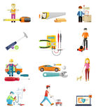 Icons Set of Tools Series Stock Photo