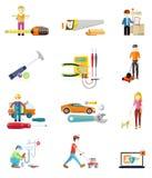 Icons Set of Tools Series Stock Photo