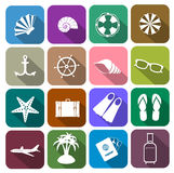 Icons set for tourism industry Stock Photography