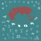 Icons set travel Royalty Free Stock Image