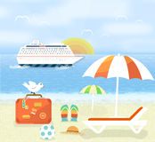 Icons set of traveling and planning a summer Stock Images