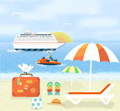 Icons set of traveling and planning a summer Royalty Free Stock Photo