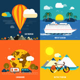Icons set of traveling and summer vacation Royalty Free Stock Image